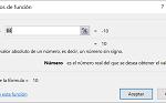 Ejemplo Funcíón ABS en Excel
