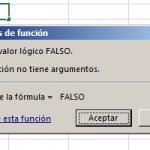 Función FALSO en Excel