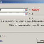 Función SI.ERROR en Excel