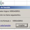 Función VERDADERO en Excel