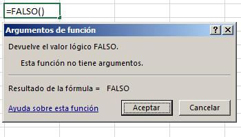 Funci%c3%b3n FALSO en Excel - Función FALSO en Excel
