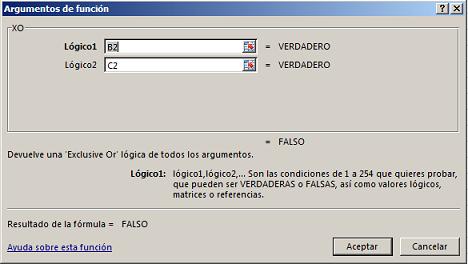 Funci%c3%b3n XO en Excel - Función XO en Excel