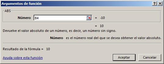 Sintaxis Funci%c3%b3n ABS en Excel - Función ABS en Excel