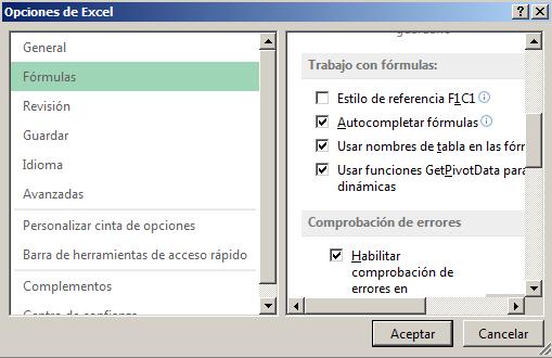 Estilo de referencia en Excel - Función INFO en Excel
