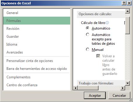 Forma de rec%c3%a1lculo en Excel - Función INFO en Excel