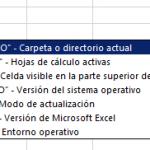 Función INFO en Excel