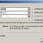 Función TIR.NO.PER en Excel