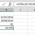Ejemplo Función LETRA.DE.TES.RENDTO en Excel