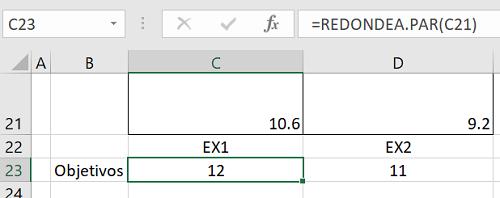 Redondea.Par en Excel